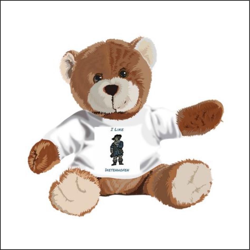 "Kuschel-Teddybär ""I Like Dietenhofen"""