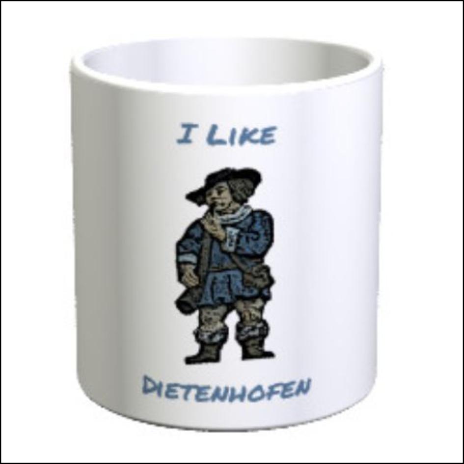 "Kaffeetasse Dudemann ""I like Dietenhofen"""